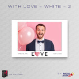 With Love White 2 4x6