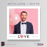 With Love White Square