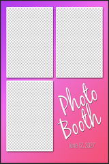 3 Photo 4x6 Vertical Sample/Guide PSD - Booth for  iPad