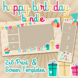 Birthday Bundle - 2x6 Print Template and Screen Template