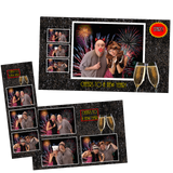 New Year Party- 2x6, 4x6 Print and Screen Template Bundle