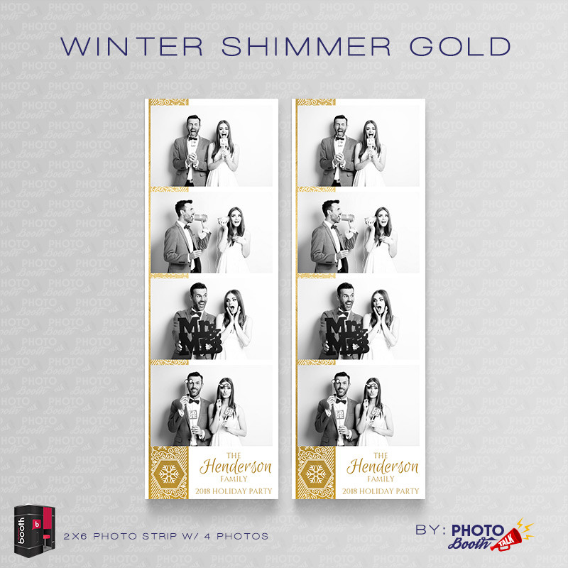 Winter Shimmer Gold 2x6 4 Images - CI Creative
