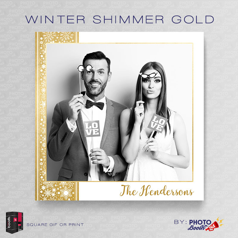 Winter Shimmer Gold Square - CI Creative