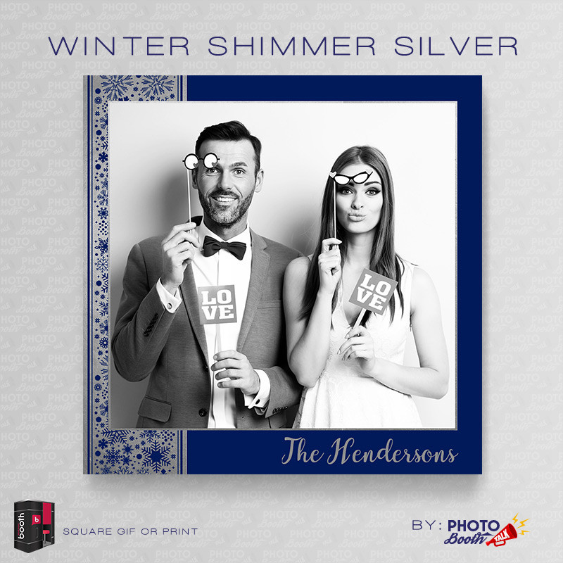 Winter Shimmer Silver Square - CI Creative