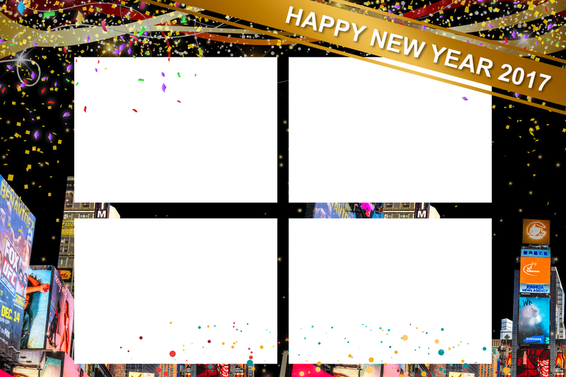 New Year TimeSquare- 4x6 Print and Screen Template Bundle