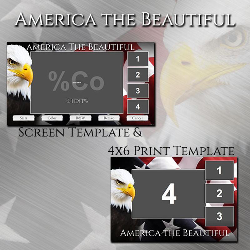 America the Beautiful Bundle - 4x6 Print and Screen Template