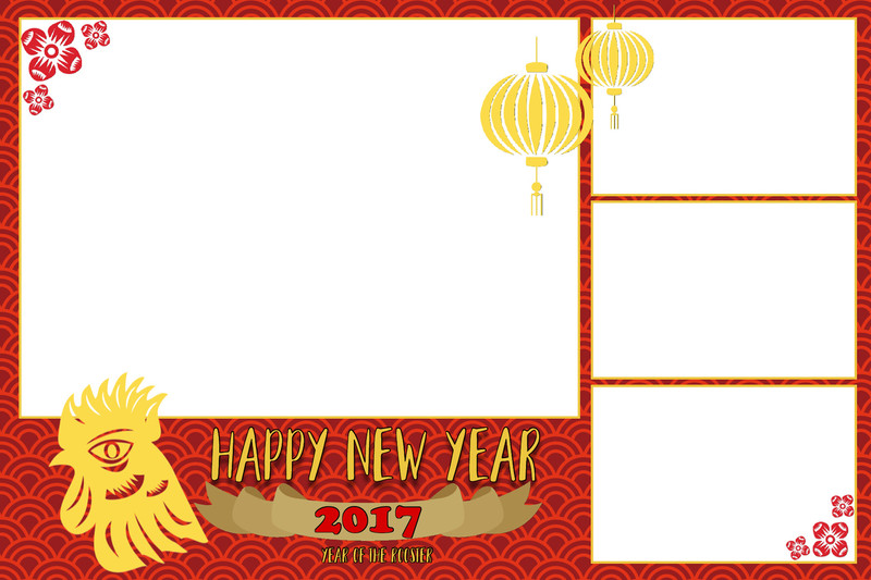 Chinese New Year 2017 Print and Screen Template Bundle