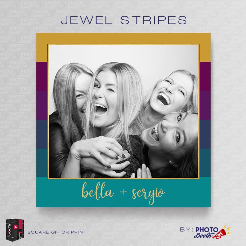 Jewel Stripes 5x5 Square - CI Creative