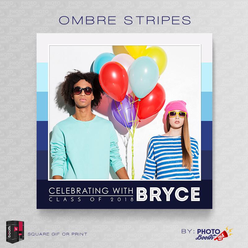 Ombre Stripes 5x5 Square - CI Creative