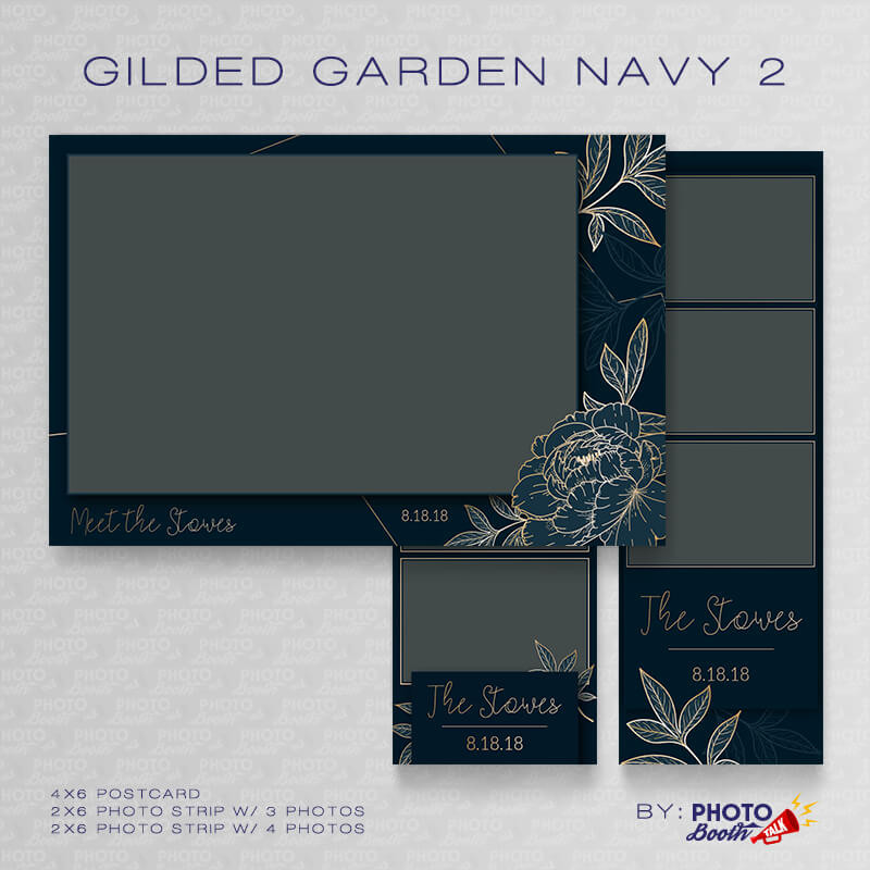 Gilded Garden Navy 2 Bundle - CI Creative
