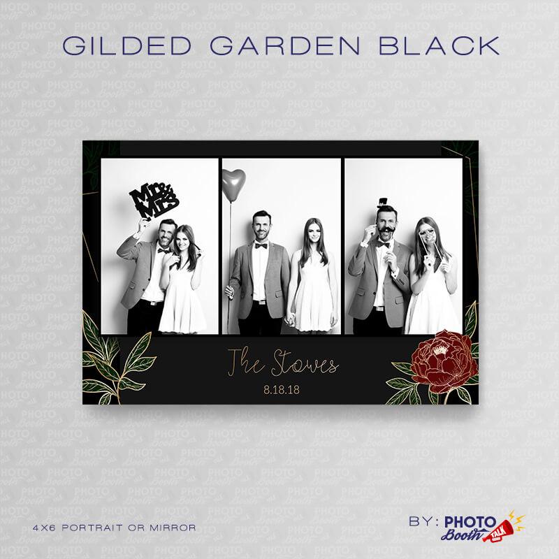 Gilded Garden Black Portrait Mirror - CI Creative