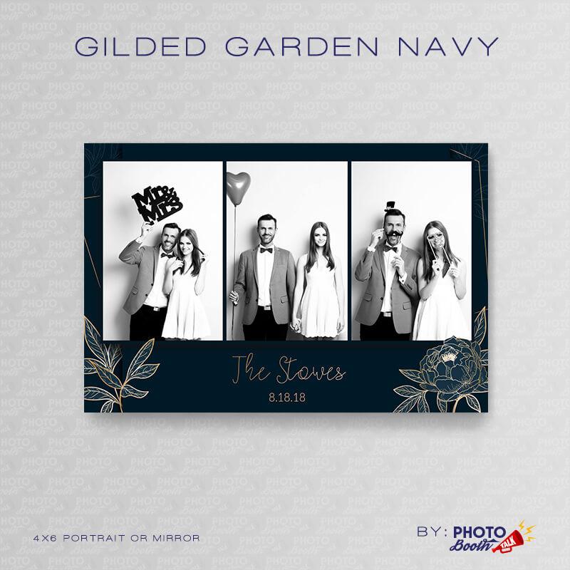 Gilded Garden Navy Portrait Mirror - CI Creative