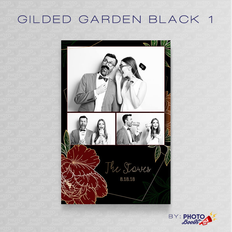 Gilded Garden Black 1 4x6 - CI Creative