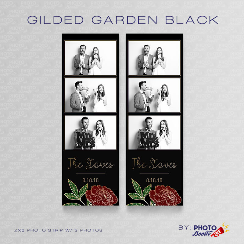 Gilded Garden Black 2x6 3 Images - CI Creative