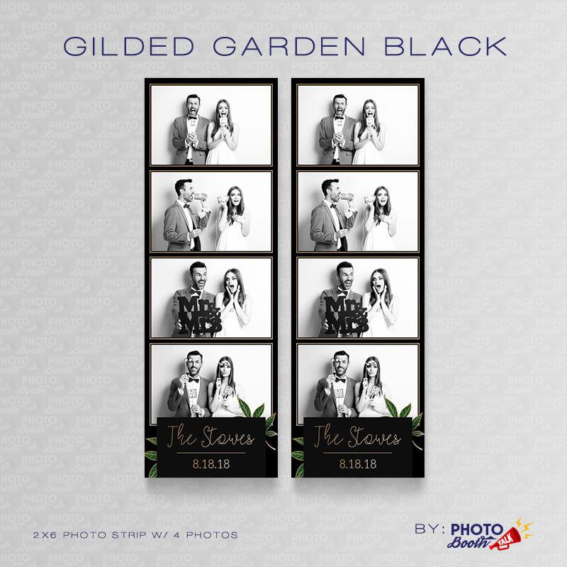 Gilded Garden Black 2x6 4 Images - CI Creative