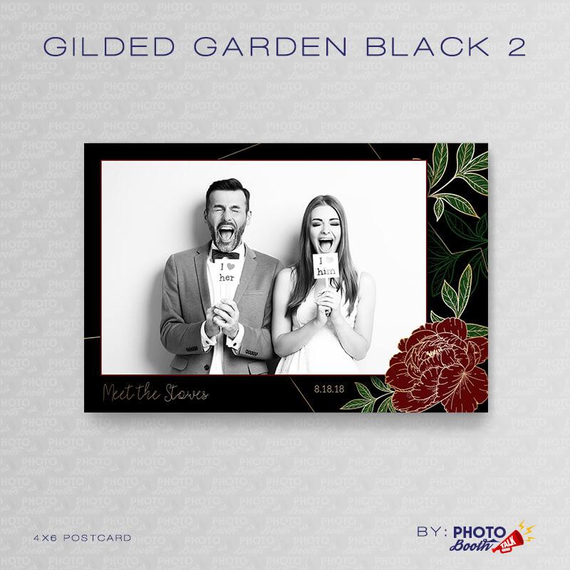 Gilded Garden Black 2 4x6 - CI Creative