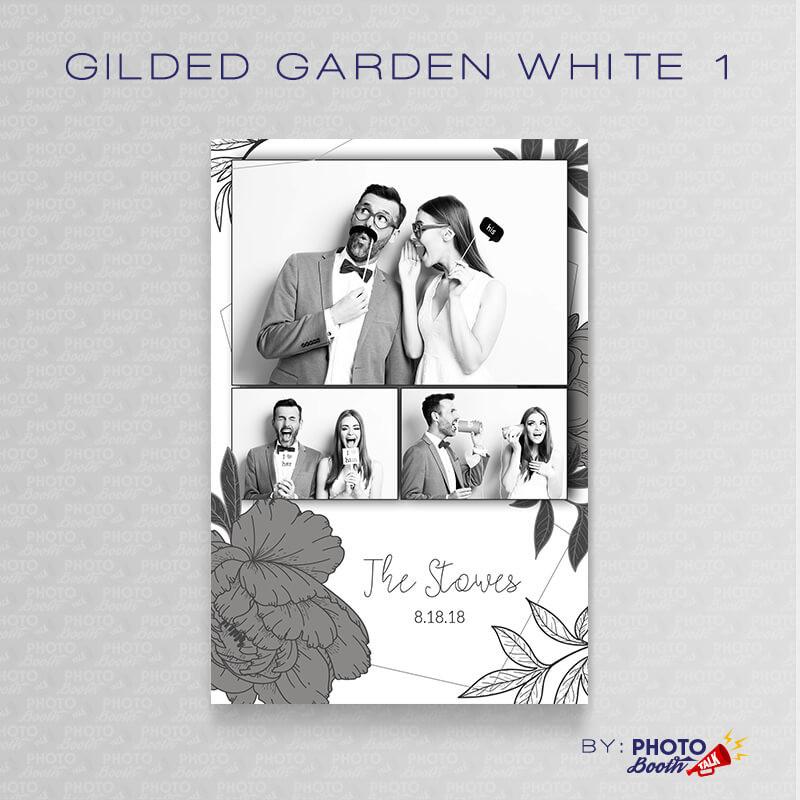 Gilded Garden White 1 4x6 - CI Creative