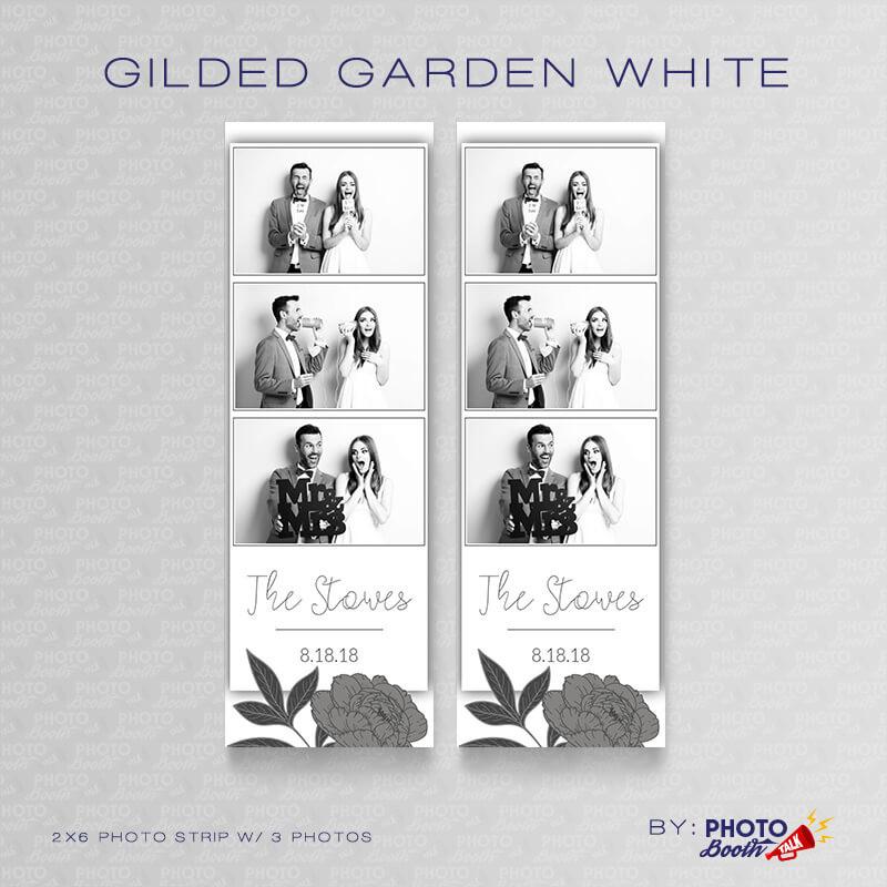 Gilded Garden White 2x6 3 Images - CI Creative