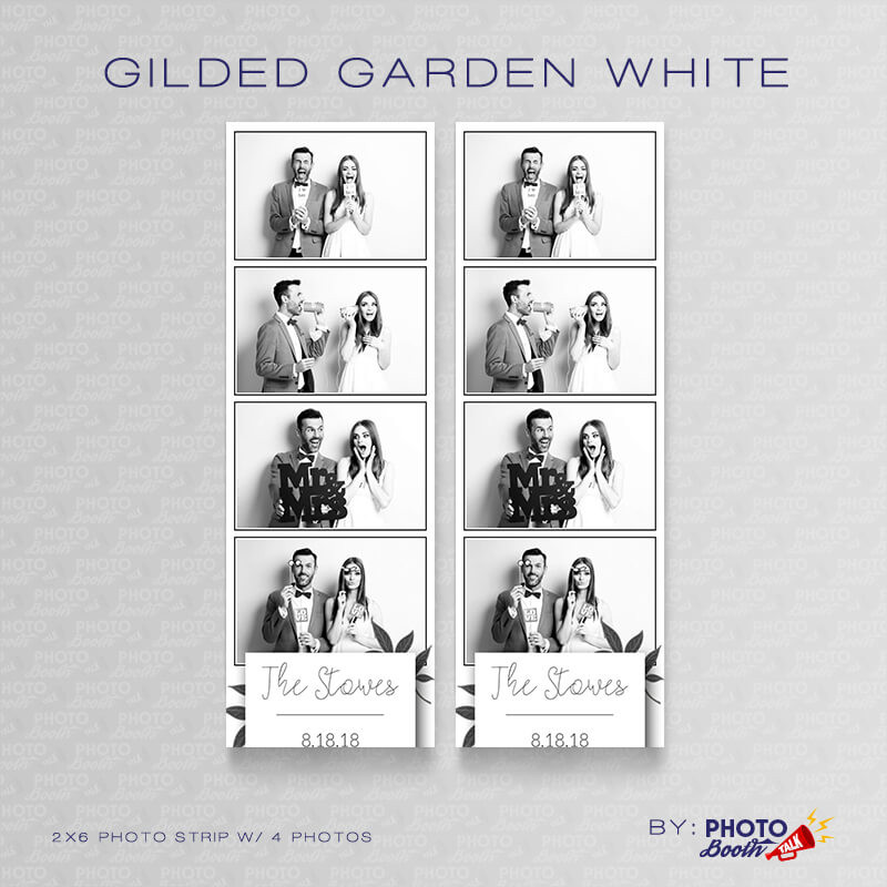 Gilded Garden White 2x6 4 Images - CI Creative