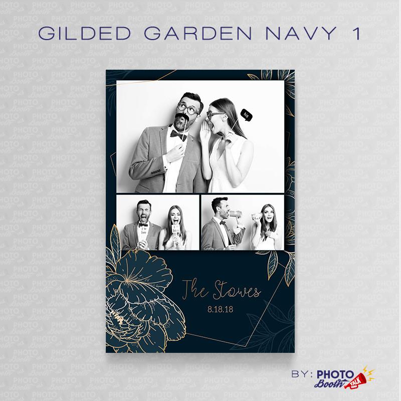 Gilded Garden Navy 1 4x6 - CI Creative