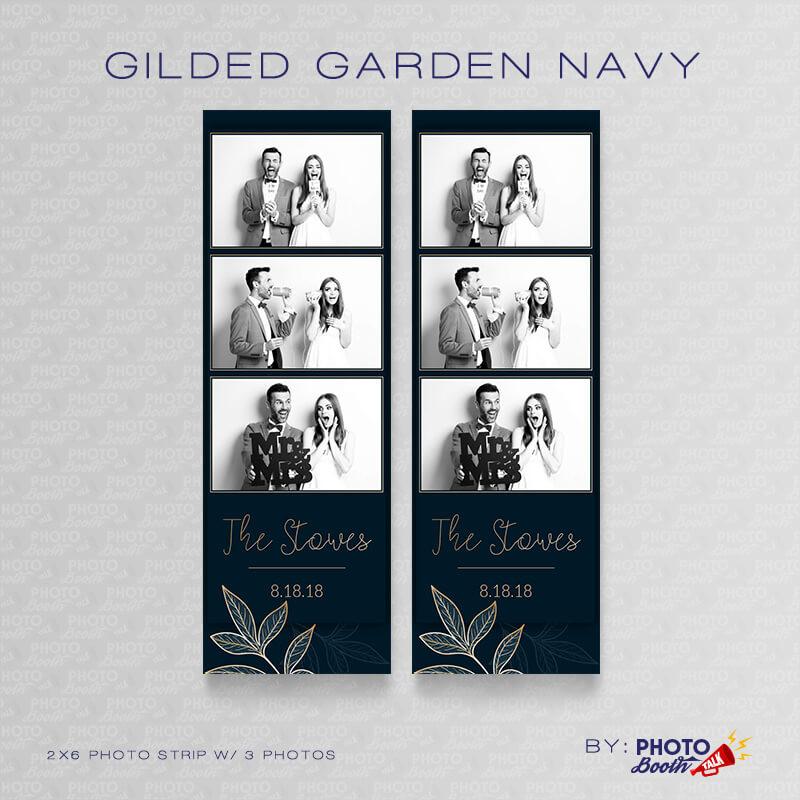 Gilded Garden Navy 2x6 3 Images - CI Creative
