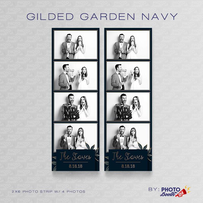 Gilded Garden Navy 2x6 4 Images - CI Creative