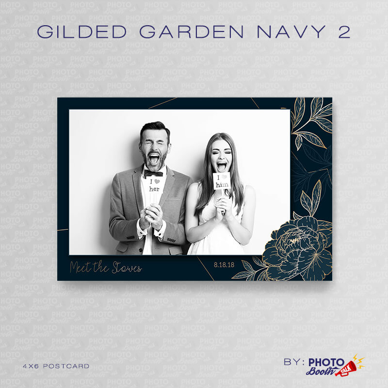Gilded Garden Navy 2 4x6 - CI Creative