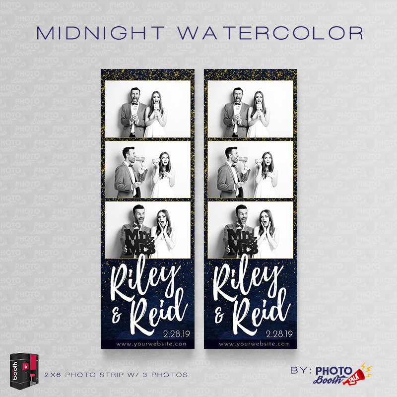 Midnight Watercolor 2x6 3 Images - CI Creative