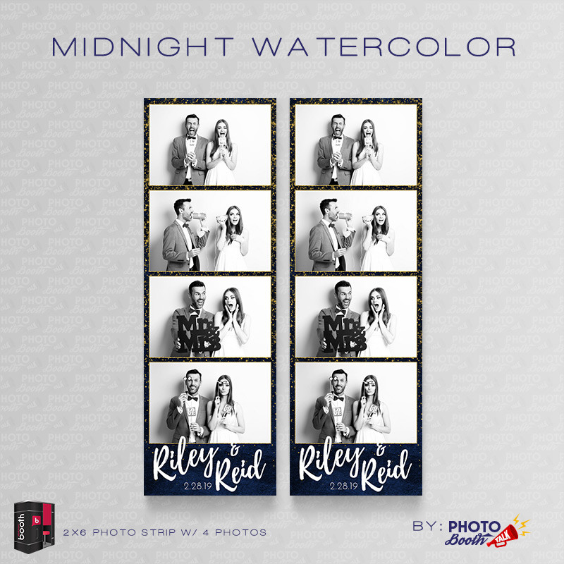 Midnight Watercolor 2x6 4 Images - CI Creative