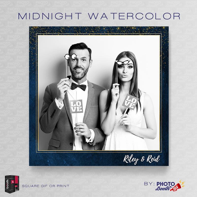 Midnight Watercolor Square - CI Creative