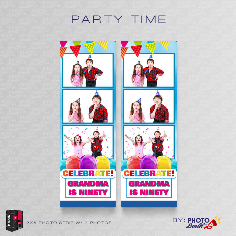 Party Time 2x6 3 Images - CI Creative