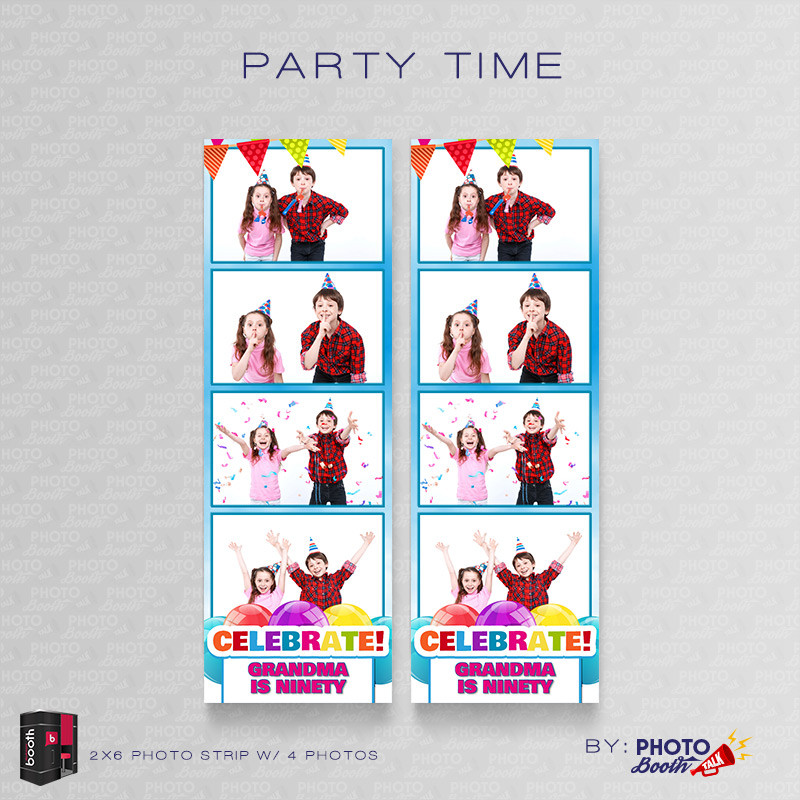 Party Time 2x6 4 Images - CI Creative