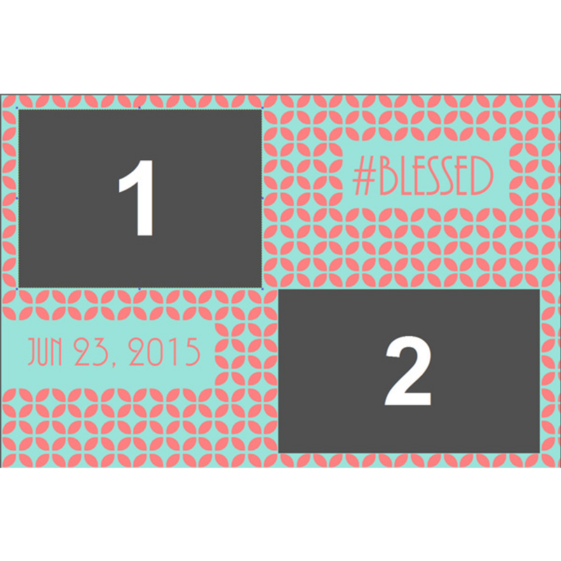 #BestDayEver 4x6 Print Template - 2 Images