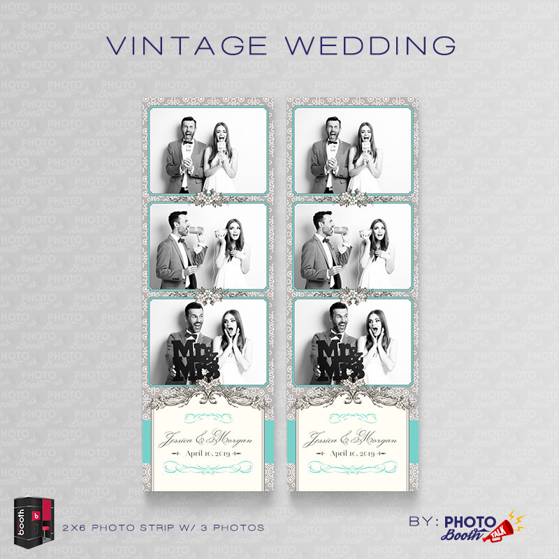 Vintage Wedding 2x6 3 Images - CI Creative