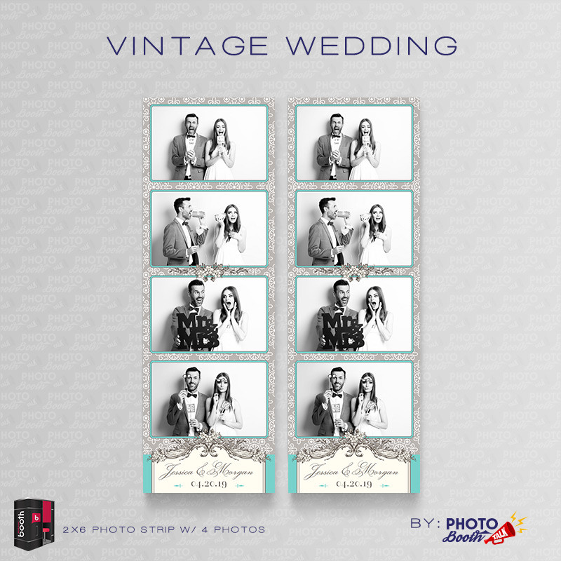 Vintage Wedding 2x6 4 Images - CI Creative