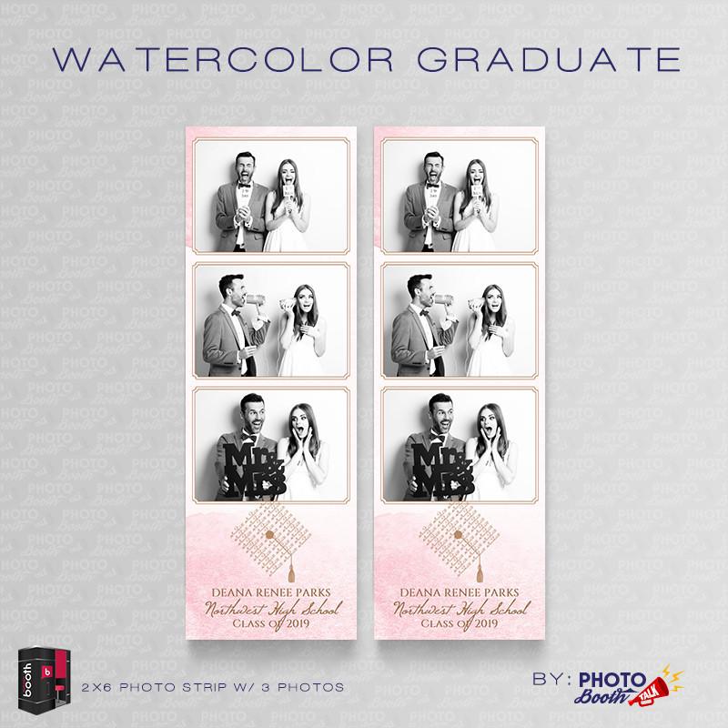 Watercolor Graduate 2x6 3 Images - CI Creative