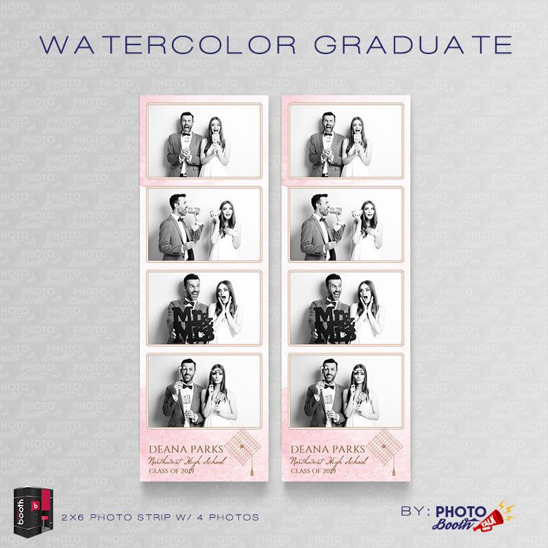 Watercolor Graduate 2x6 4 Images - CI Creative