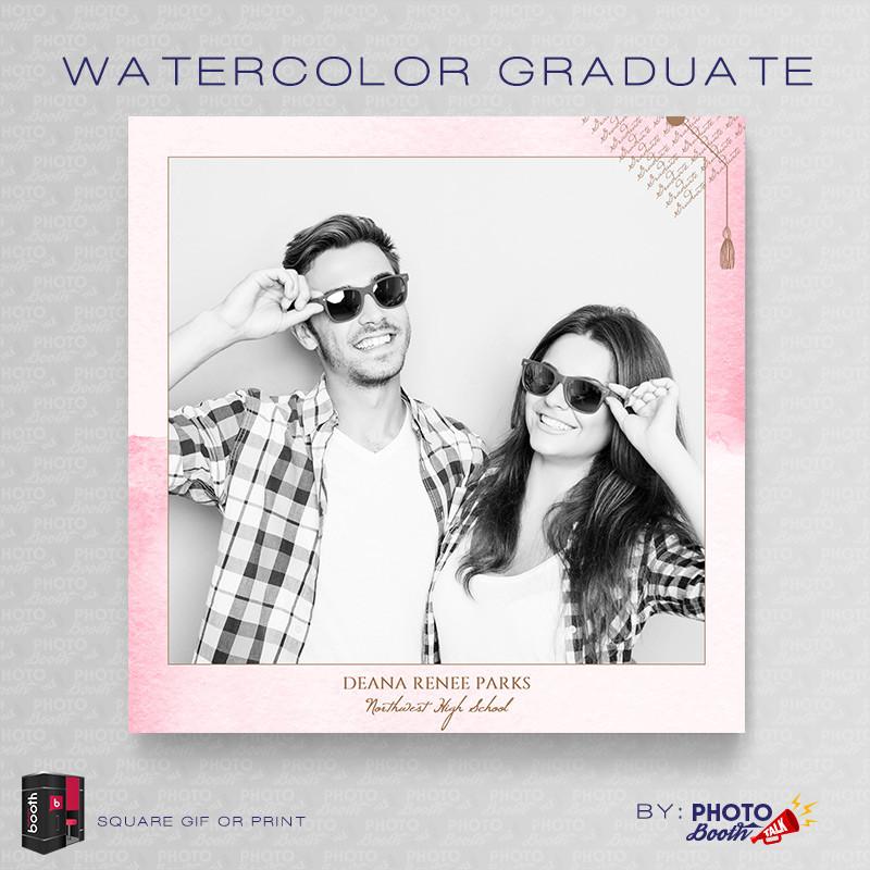 Watercolor Graduate Square - CI Creative