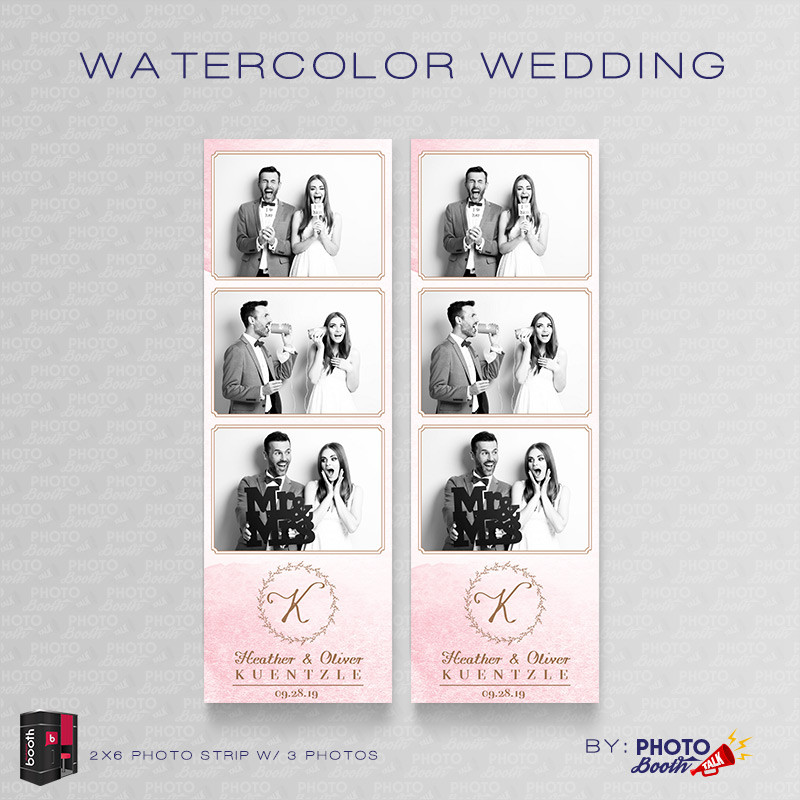 Watercolor Wedding 2x6 3 Images - CI Creative