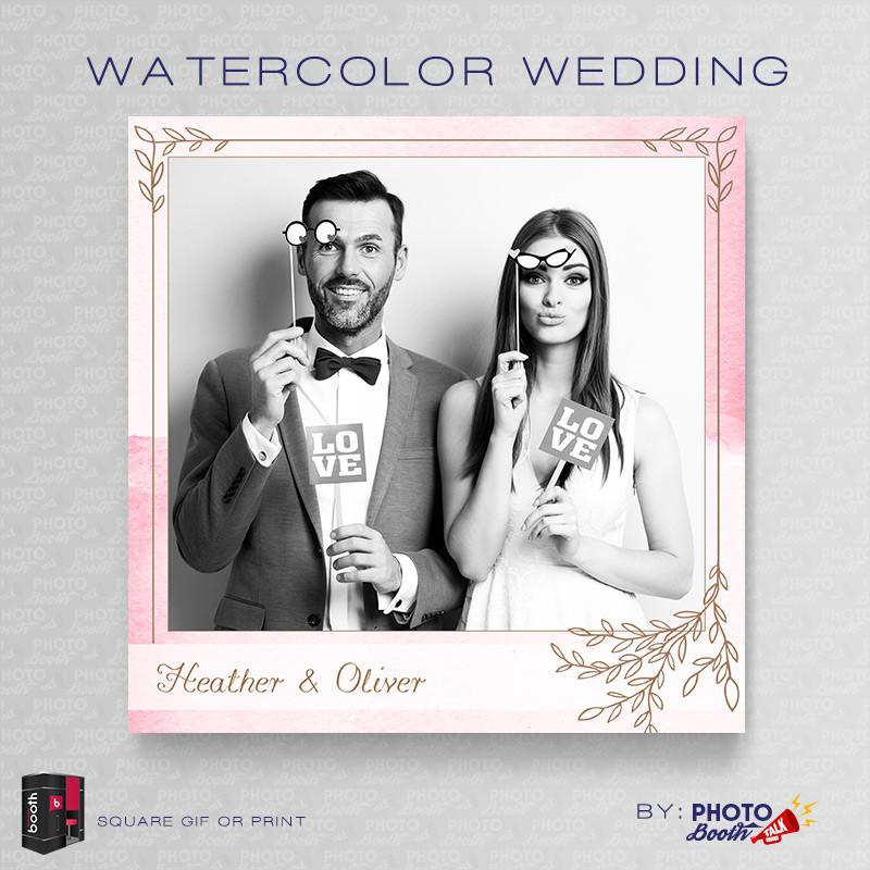 Watercolor Wedding Square - CI Creative