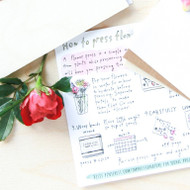 FLAX Gift Ideas - DIY Travel Flower Press
