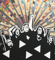 Community Mosaic Mural, Black  Lives Matter