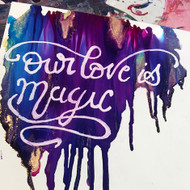 Lettering Magic - with Alcohol Inks and Masking Fluid on Yupo