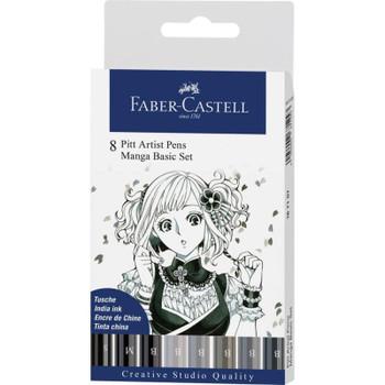 PITT Artist Pen, Manga Set of 8