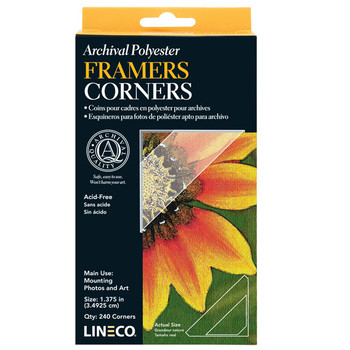 Lineco Mylar Framing Corners