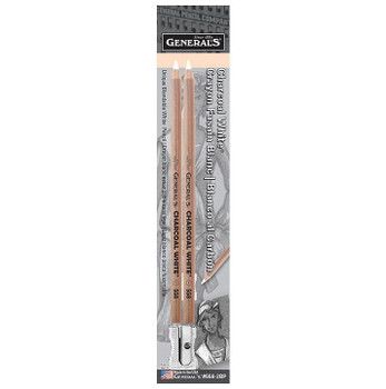 General's Charcoal White Pencil Set of 2