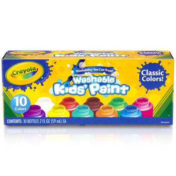 Crayola Washable Paint Set, 10 Colors