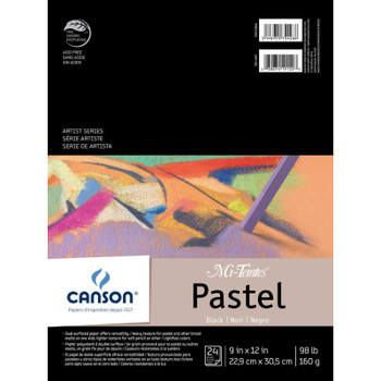 "Mi-Teintes Black Pastel Pad, 9"" x 12"""