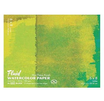 Fluid Watercolor Paper Blocks, Hot Press