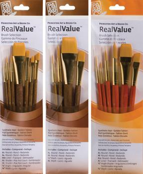 Real Value Short Handle Brush Sets
